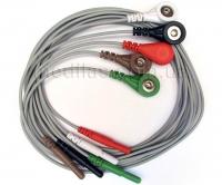 Набор проводов ЭКГ для реанимационных мониторов и мониторов Холтера (5 шт)