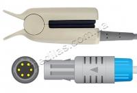Датчик SpO2, совместимый с мониторами пациента и пульсоксиметрами Mindray® (оригинальный 0010-20-42595E), MEC®, Creative®, Edan®, Ютас® (с 2006 г.), Datascope, Creative, Kontron®, Mennen®
