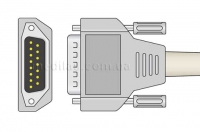 Универсальный кабель ЭКГ к электрокардиографам со штекерами отведений 4 мм и пружиной (banana)