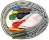 Набор проводов ЭКГ для реанимационных мониторов и мониторов Холтера (7 шт)